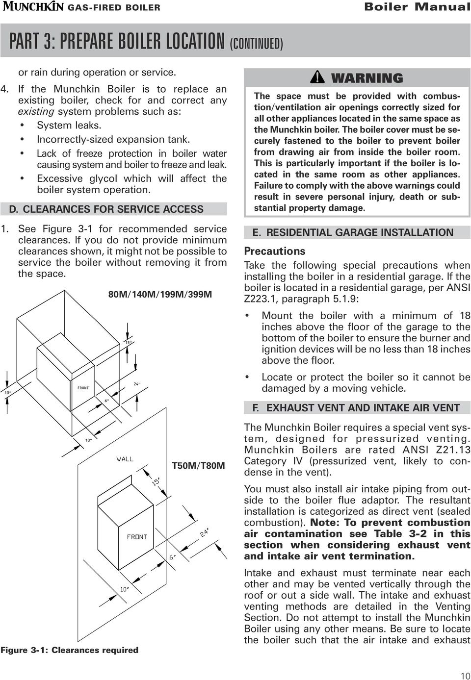 Boiler Manual Installation Startup Maintenance Parts Warning Pdf Munchkin Wiring Diagram Lack Of Freeze Protection In Water Causing System And To Leak