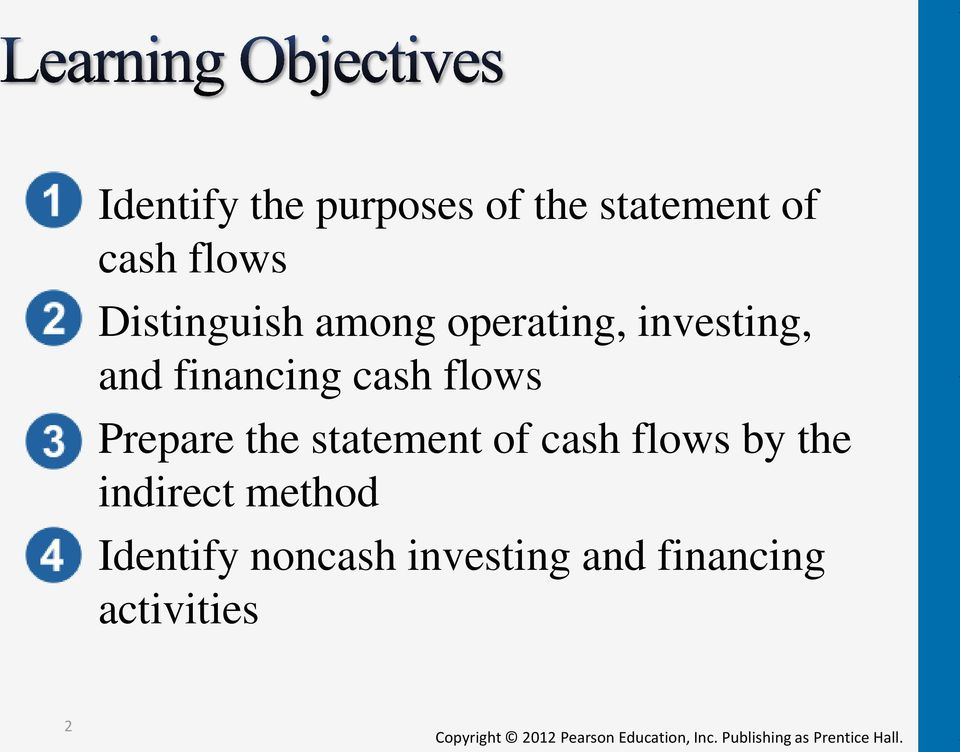 cash flows Prepare the statement of cash flows by the