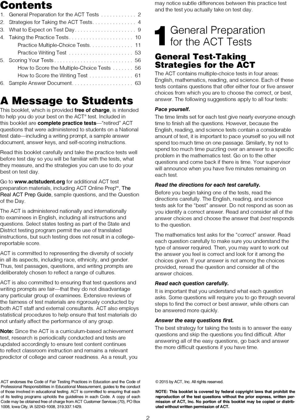 Preparing for the ACT Test - PDF