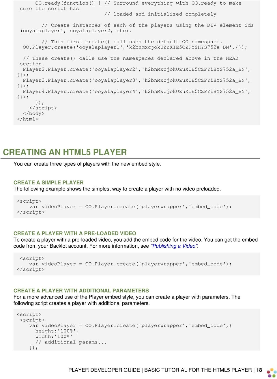 PLAYER DEVELOPER GUIDE - PDF