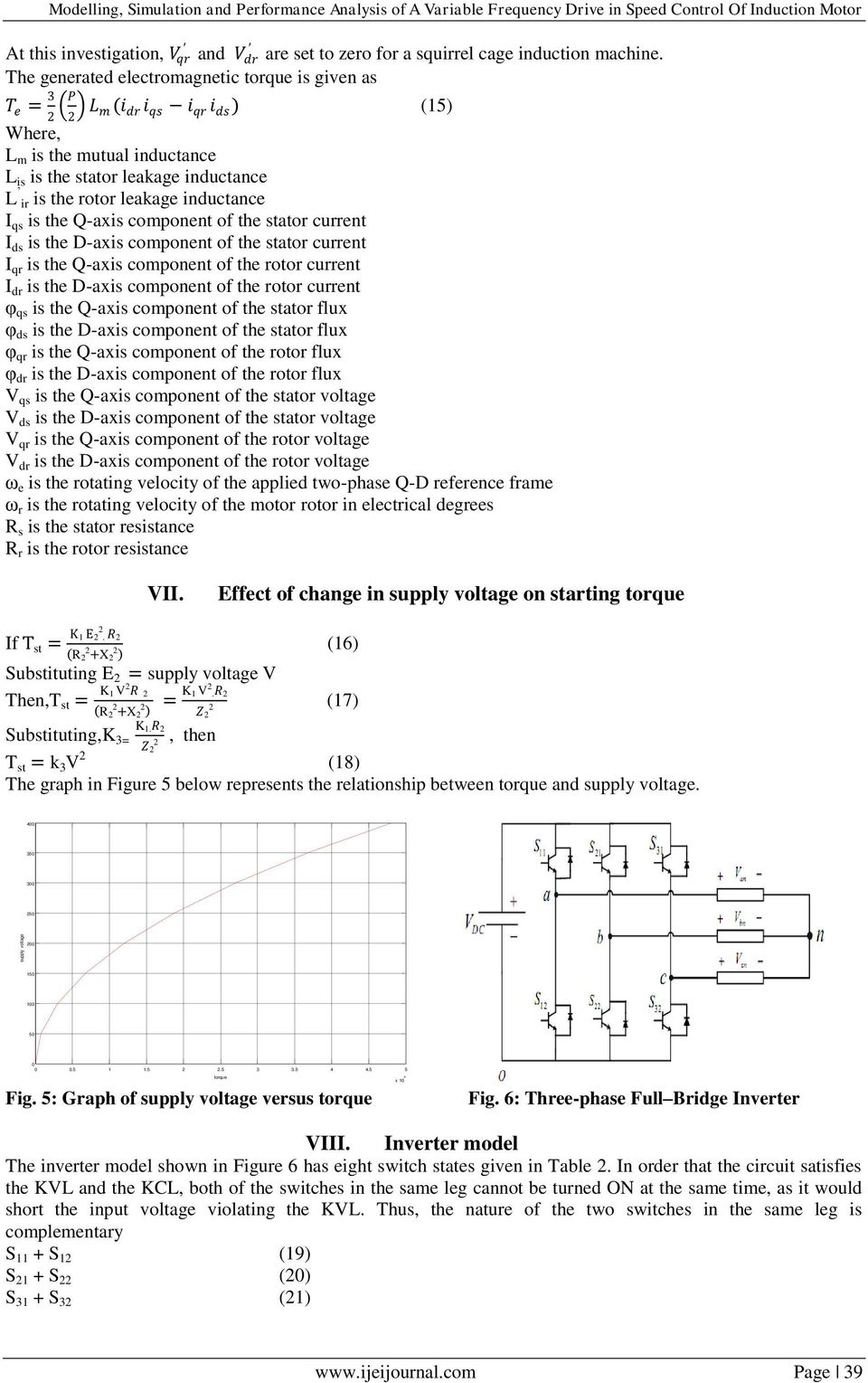 Modelling, Simulation and Performance Analysis of A Variable