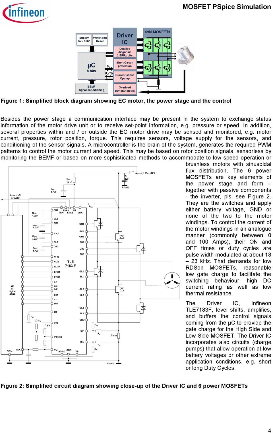 Simulation With Pspice Pdf Voltage Converter Circuit Using Tda2003 Simplified Block Diagram Showing Ec Motor The Power Stage And Control Besides