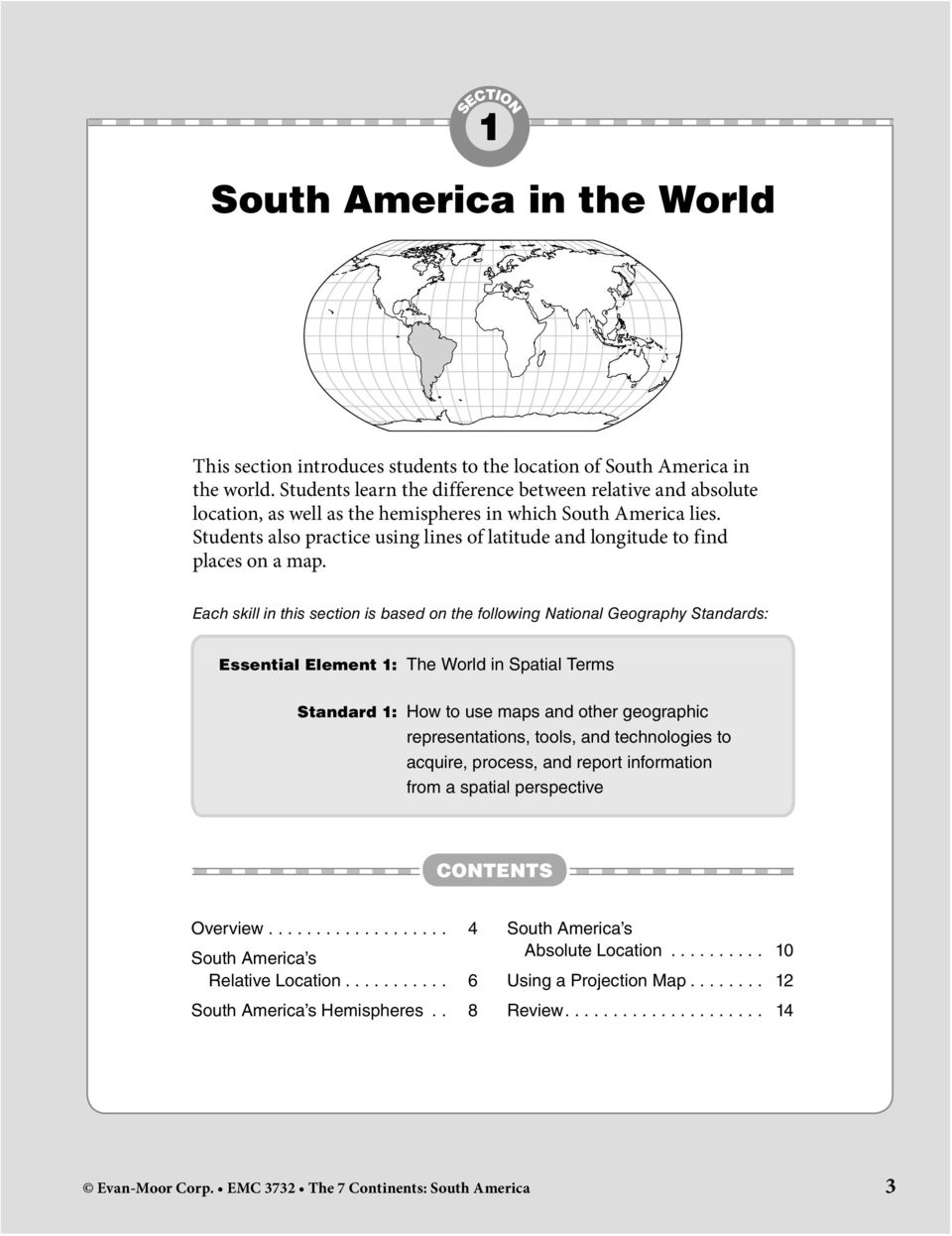 SOUTH AMERICA CONTENTS  What s in This Book Section 1: South