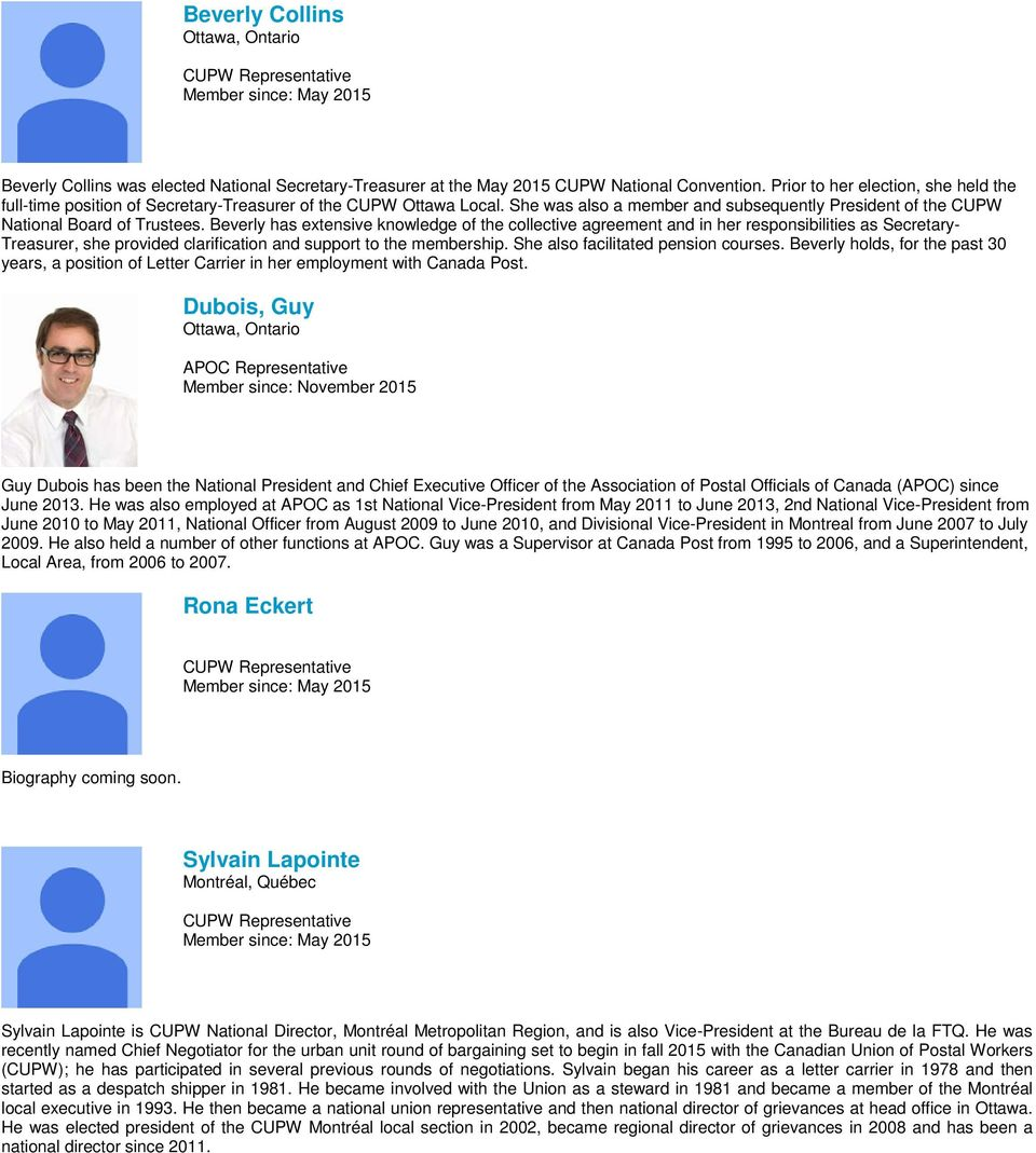 Members and Biographies of the Pension Advisory Council - PDF