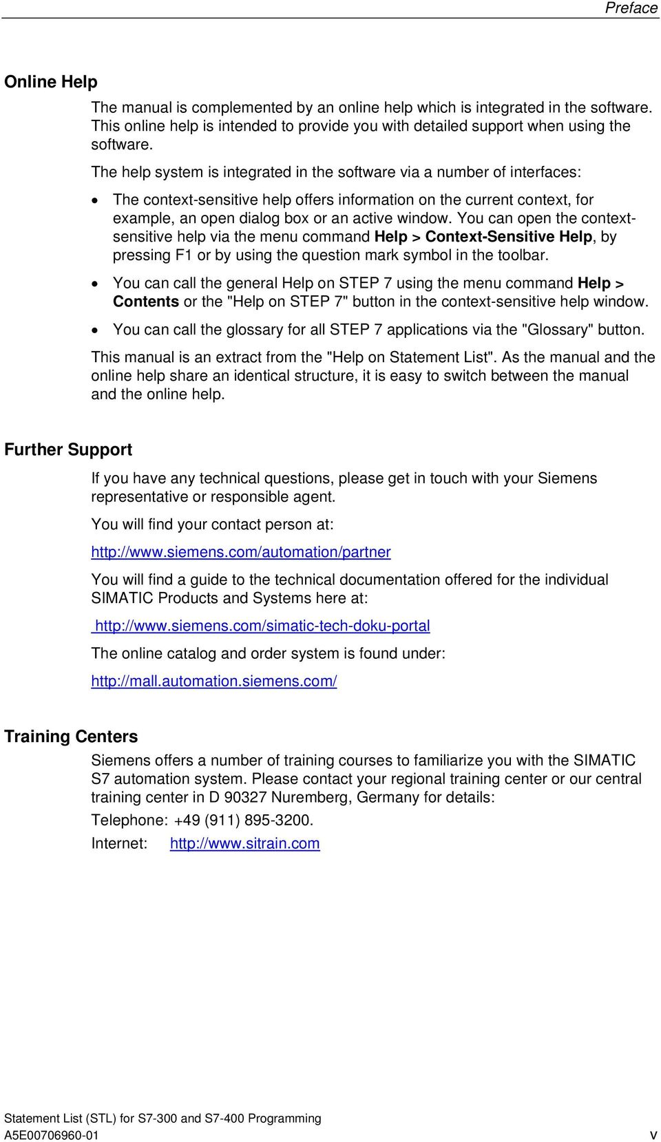 SIMATIC  Statement List (STL) for S7-300 and S7-400 Programming A B
