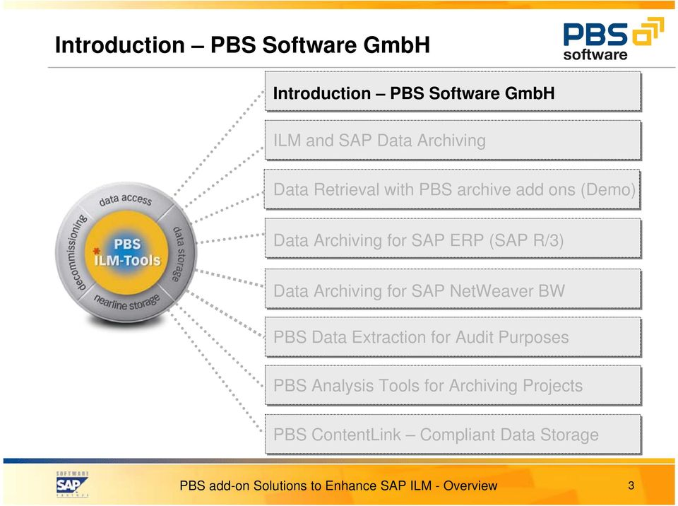 PBS Add-On Solutions  Software Solutions to Enhance SAP ILM
