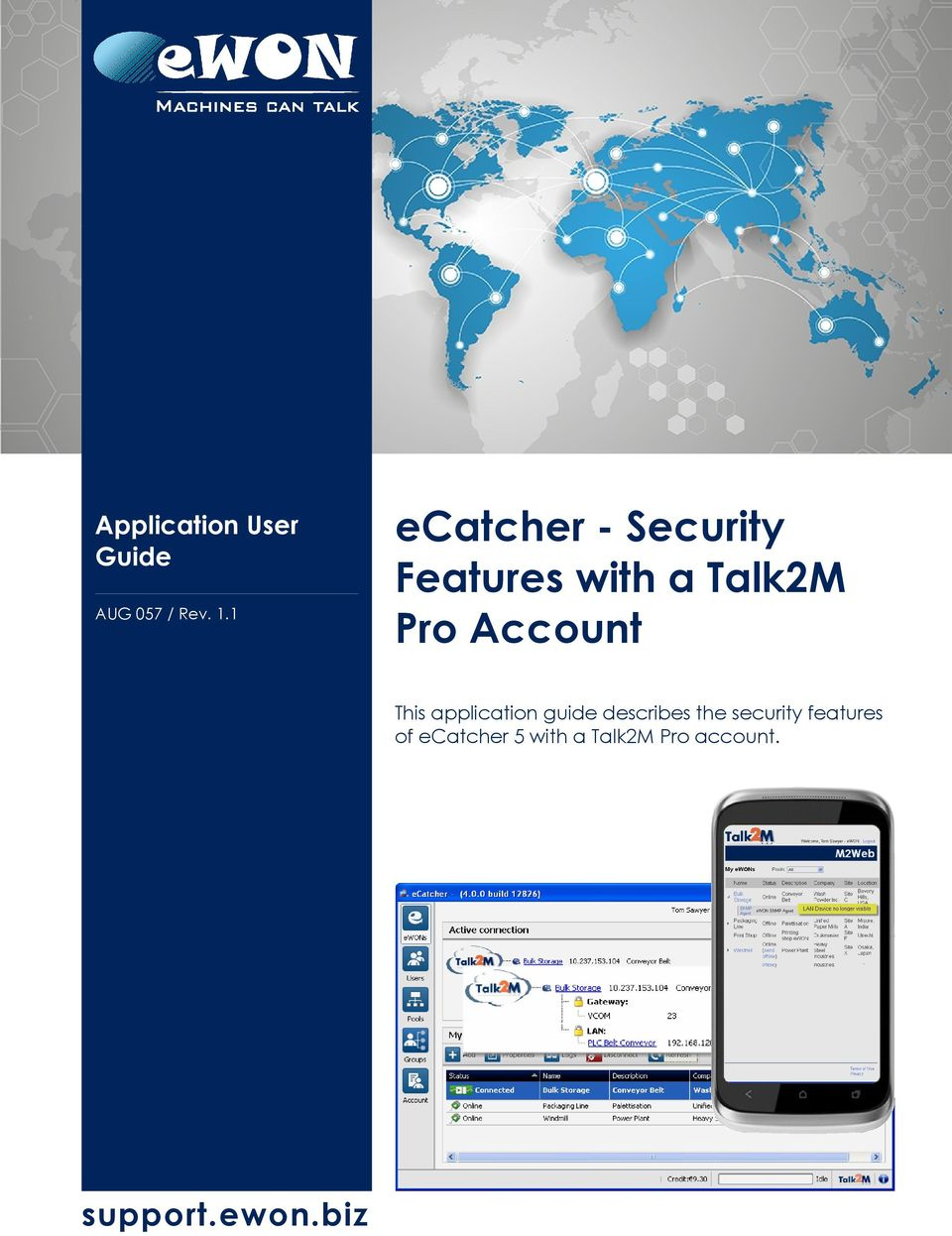 ecatcher - Security Features with a Talk2M Pro Account - PDF