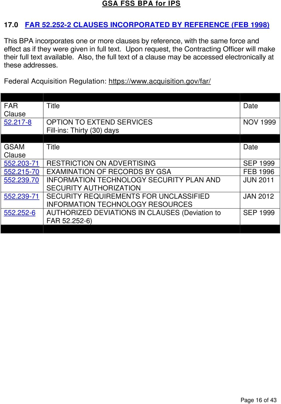 General Services Administration  Federal Supply Schedule