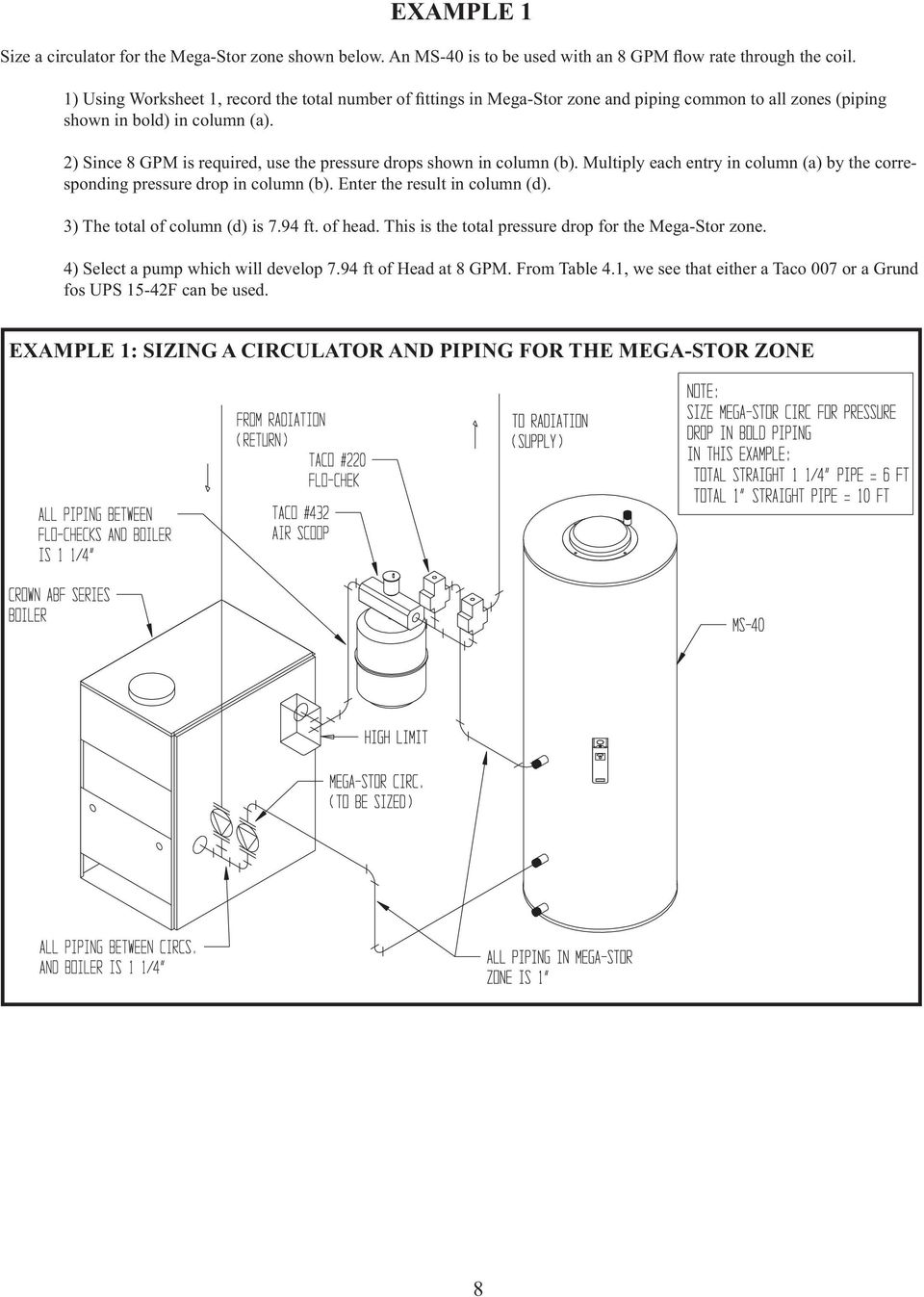 Mega Stor Installation And Operating Instructions Engineering Manual 450 Wiring Diagram 3 The Total Of Column D Is 794 Ft Head