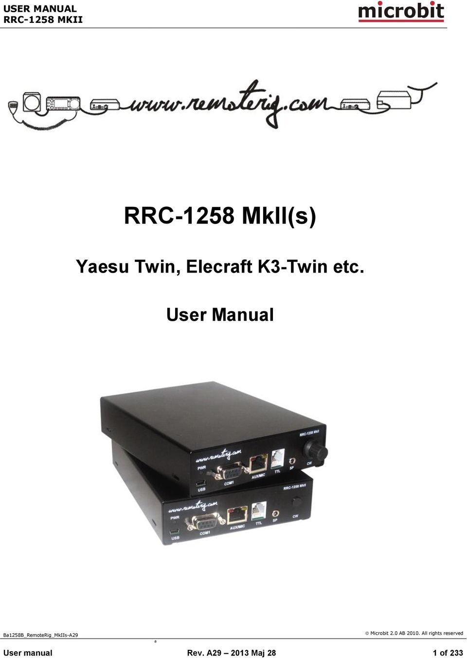 RRC-1258 MkII(s) m crob t  Yaesu Twin, Elecraft K3-Twin etc  User