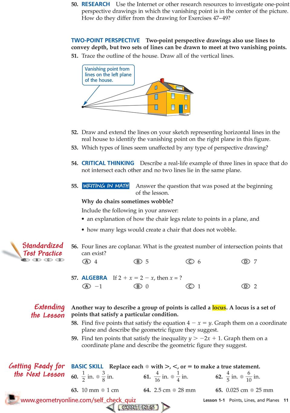 Lines and Angles  Chapter 1 Points, Lines, Planes, and