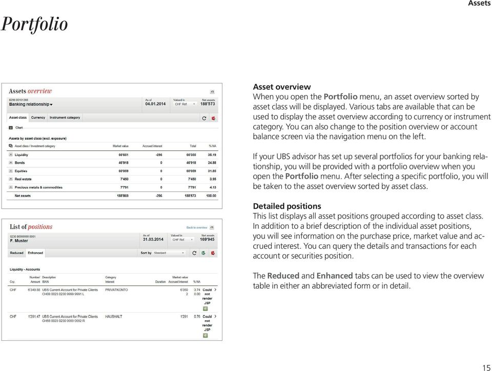 UBS e-banking A step-by-step explanation  ubs com/online - PDF