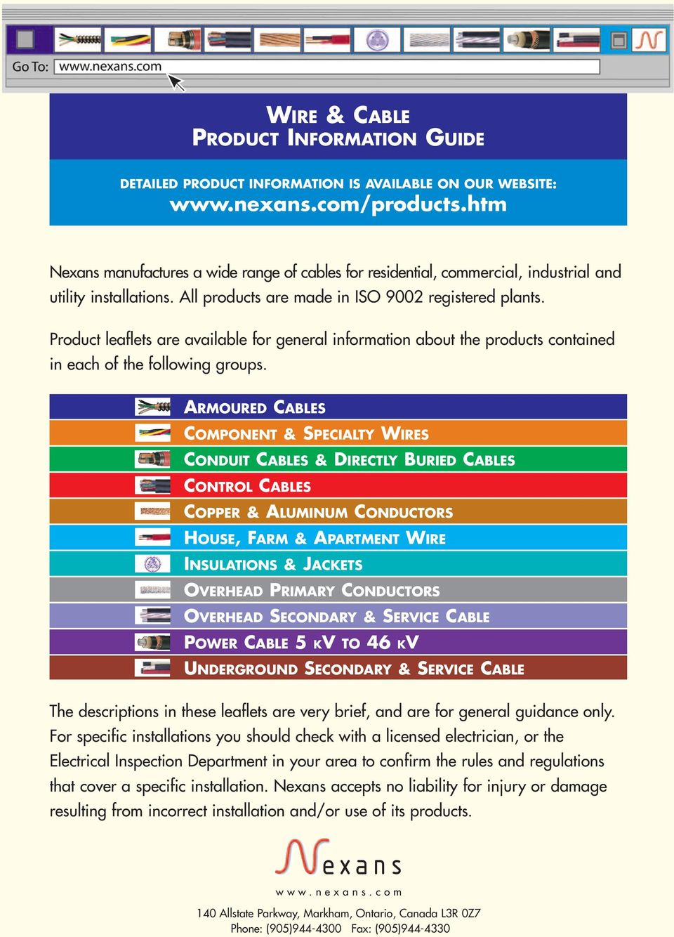 Wire Cable Product Information Guide Pdf Conduit Wiring Armoured Cables Component Specialty Wires Directly Buried Control Copper