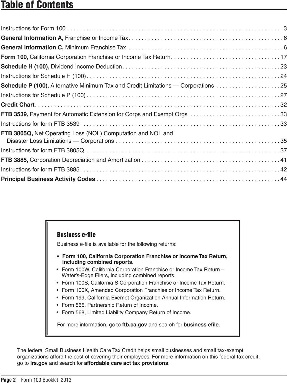 California Franchise Tax Board Forms Instructions Pdf