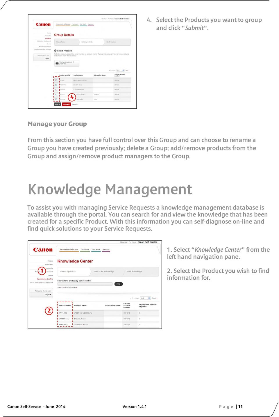 Canon Self-Service  Getting Started Guide  A guide to help