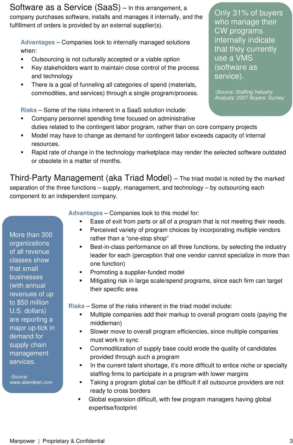 Understanding the MSP/VMS Marketplace Best Practices: Selecting a