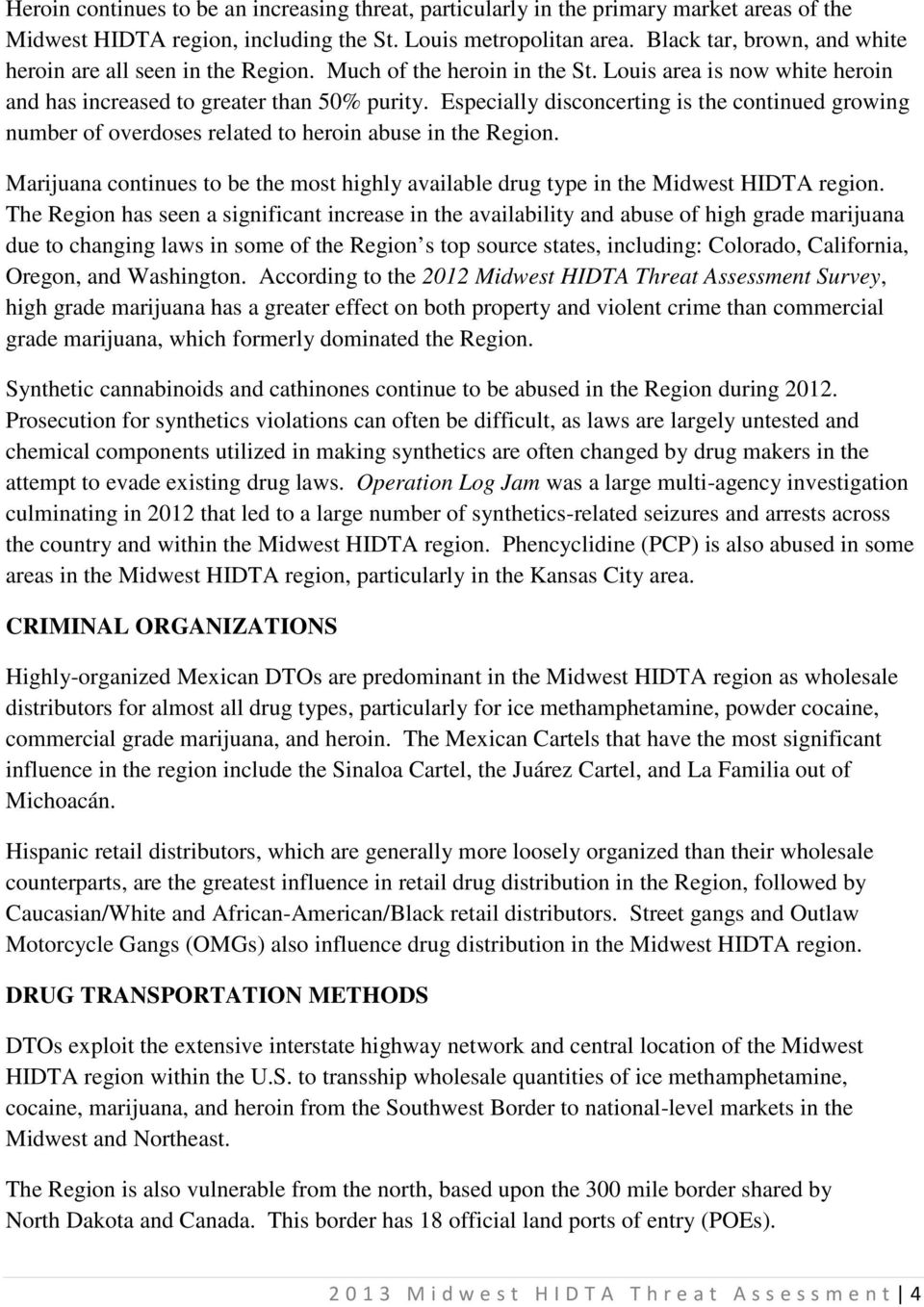 MIDWEST HIDTA INVESTIGATIVE SUPPORT CENTER (ISC) - PDF