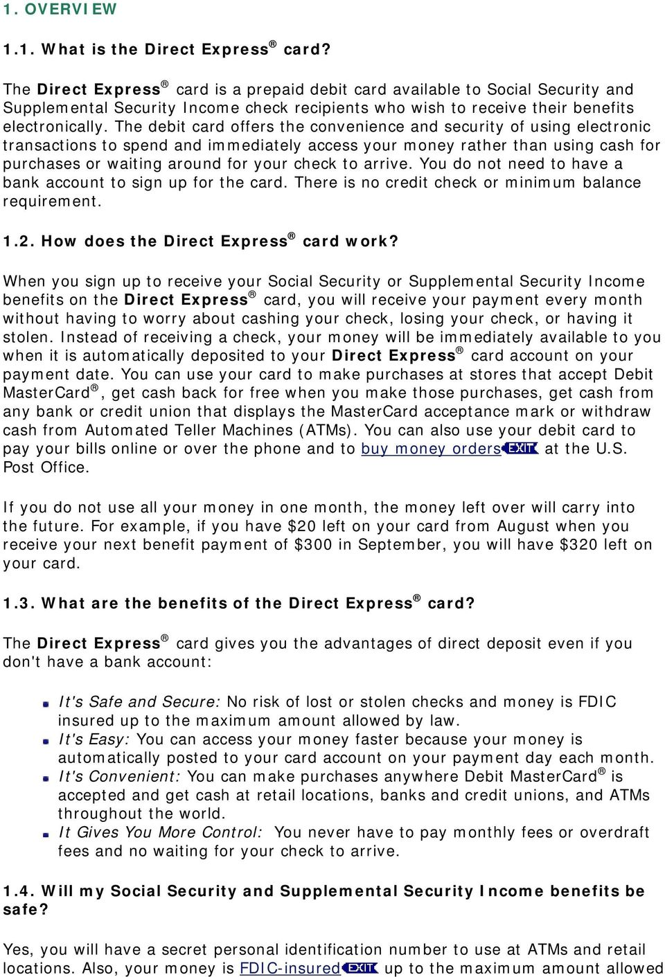 1 4  Will my Social Security and Supplemental Security Income