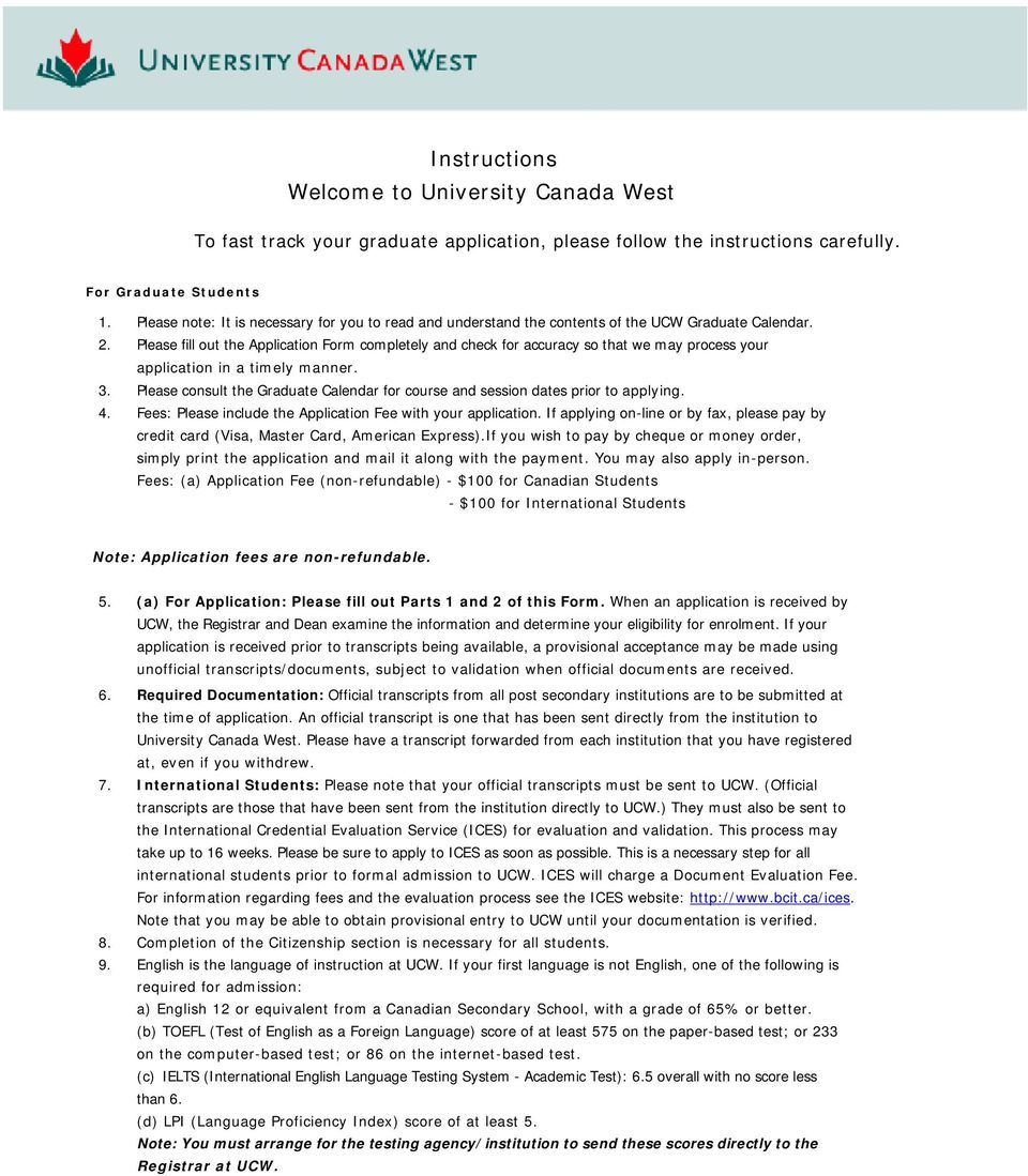 Instructions Welcome to University Canada West - PDF