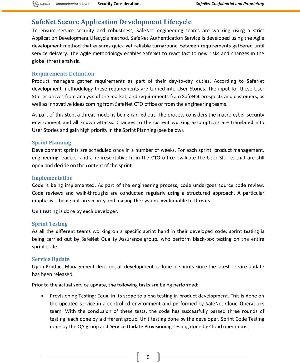 SafeNet Authentication Service Security Considerations - PDF