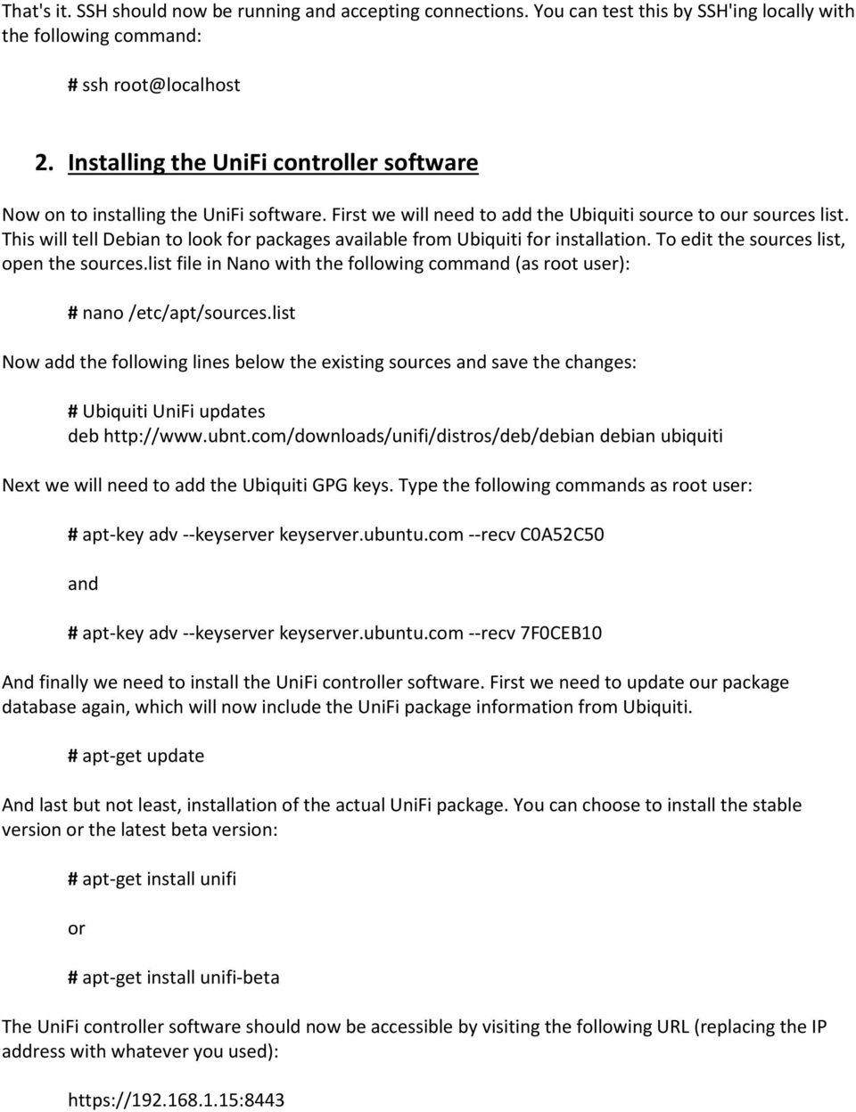 Install and configure a Debian based UniFi controller - PDF