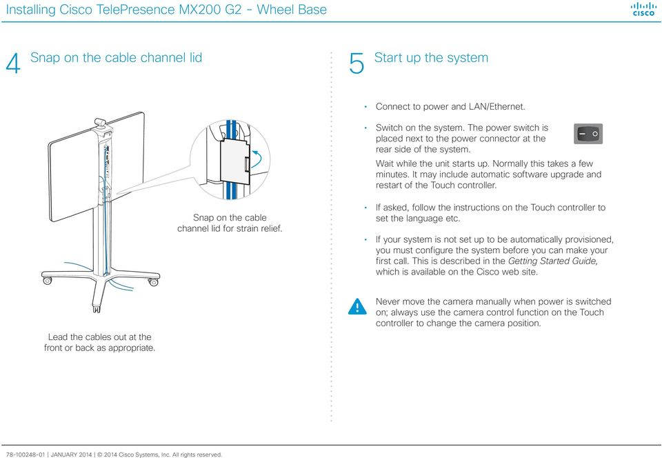 Cisco telepresence system user guide, cts software release 1. 10.
