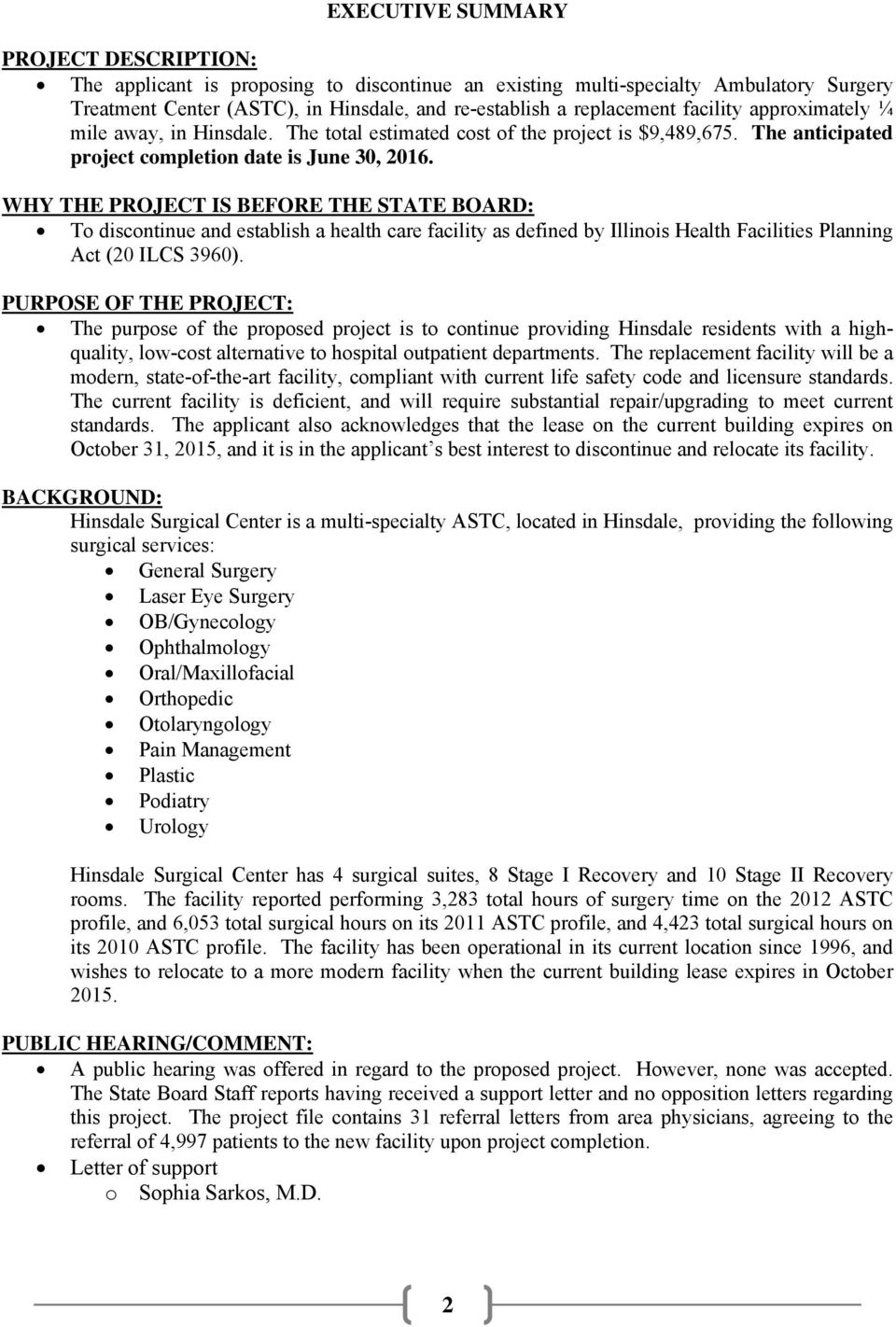 STATE OF ILLINOIS HEALTH FACILITIES AND SERVICES REVIEW BOARD - PDF