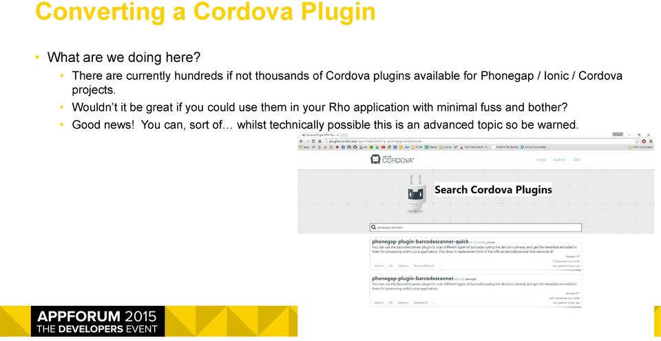 Using Extensions or Cordova Plugins in your RhoMobile