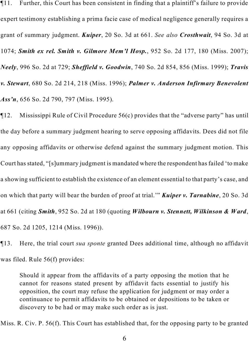 Mississippi Rules Of Civil Procedure >> In The Supreme Court Of Mississippi No Ia Sct Pdf