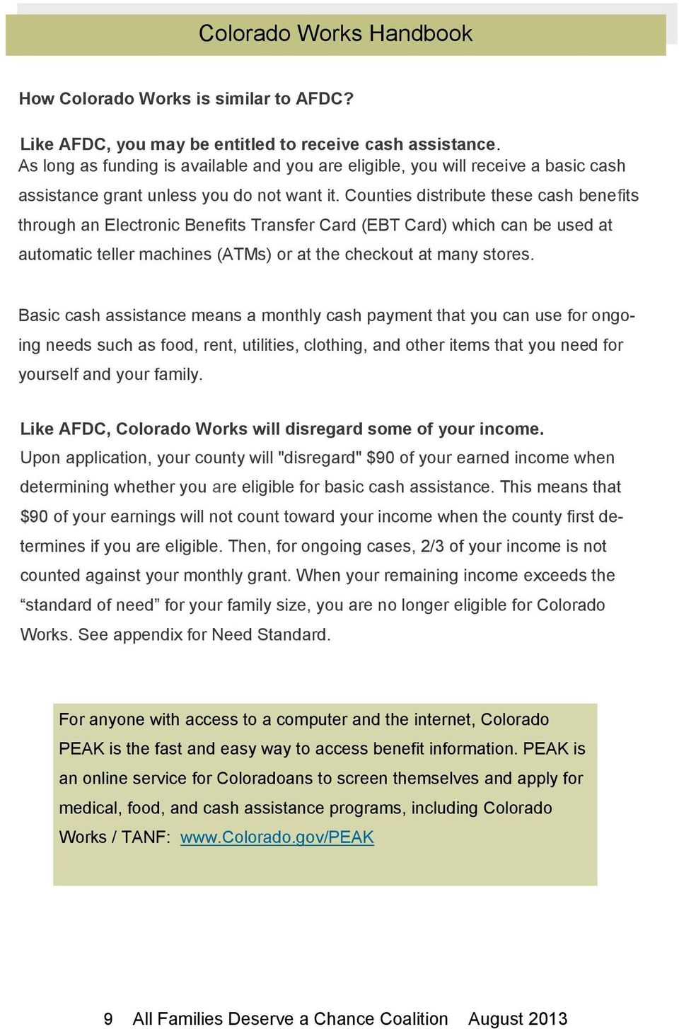 Colorado Works Handbook - PDF
