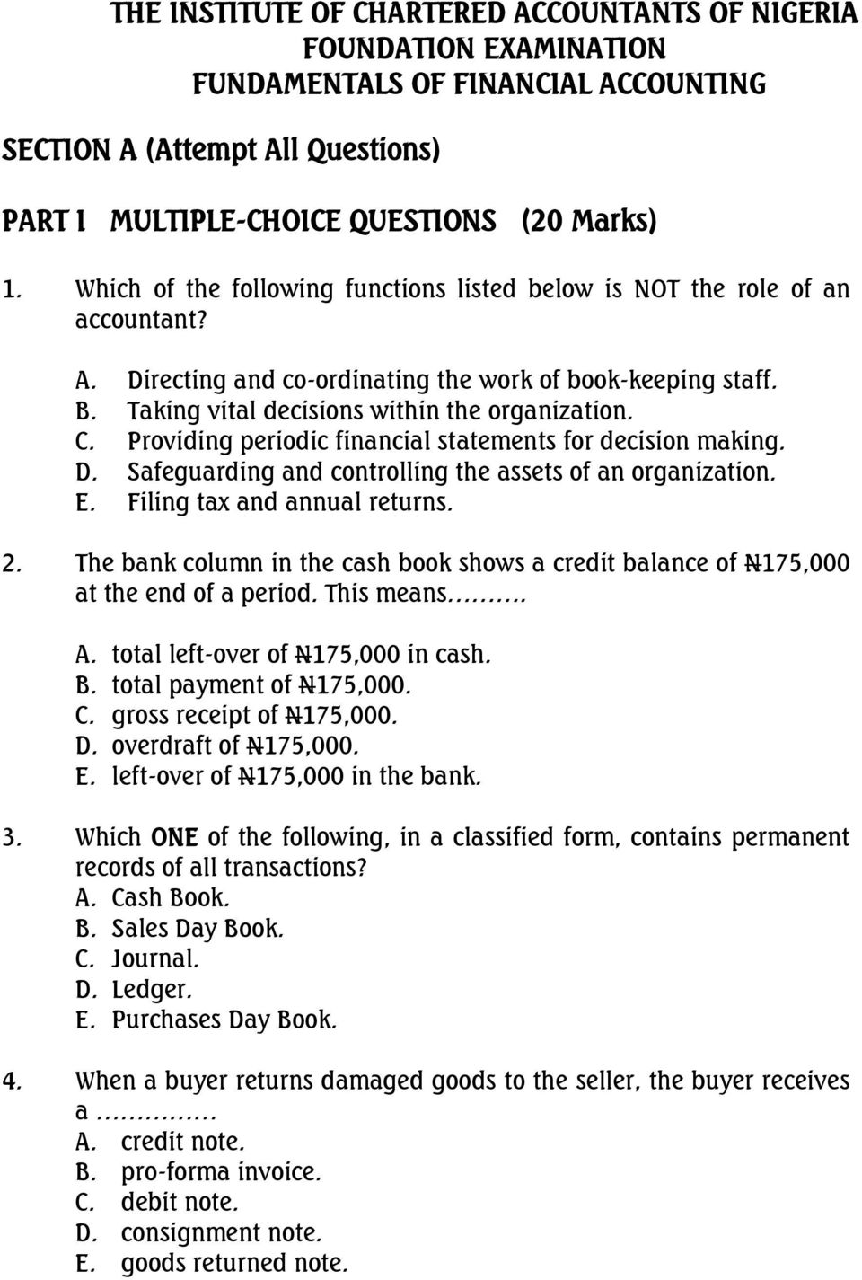 n4 financial accounting question papers and memos