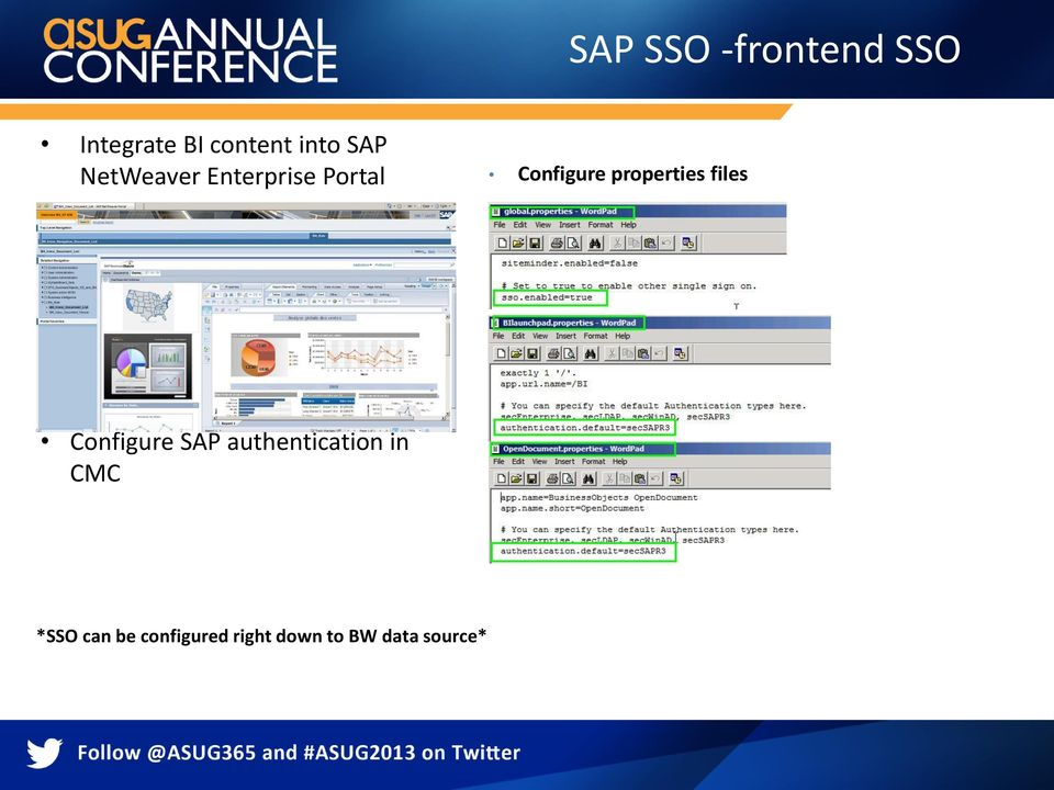 properties files Configure SAP authentication in