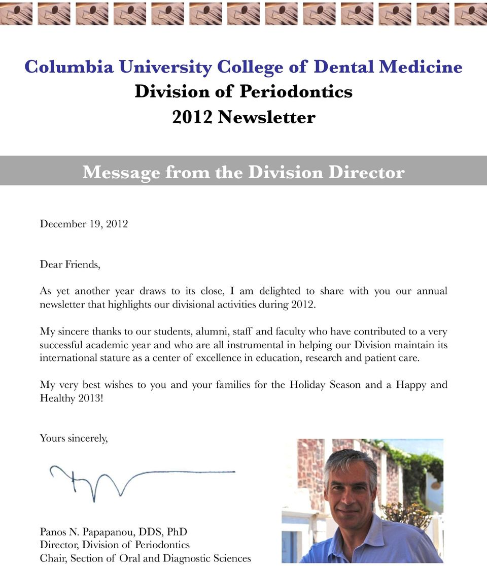 Columbia University College of Dental Medicine Division of