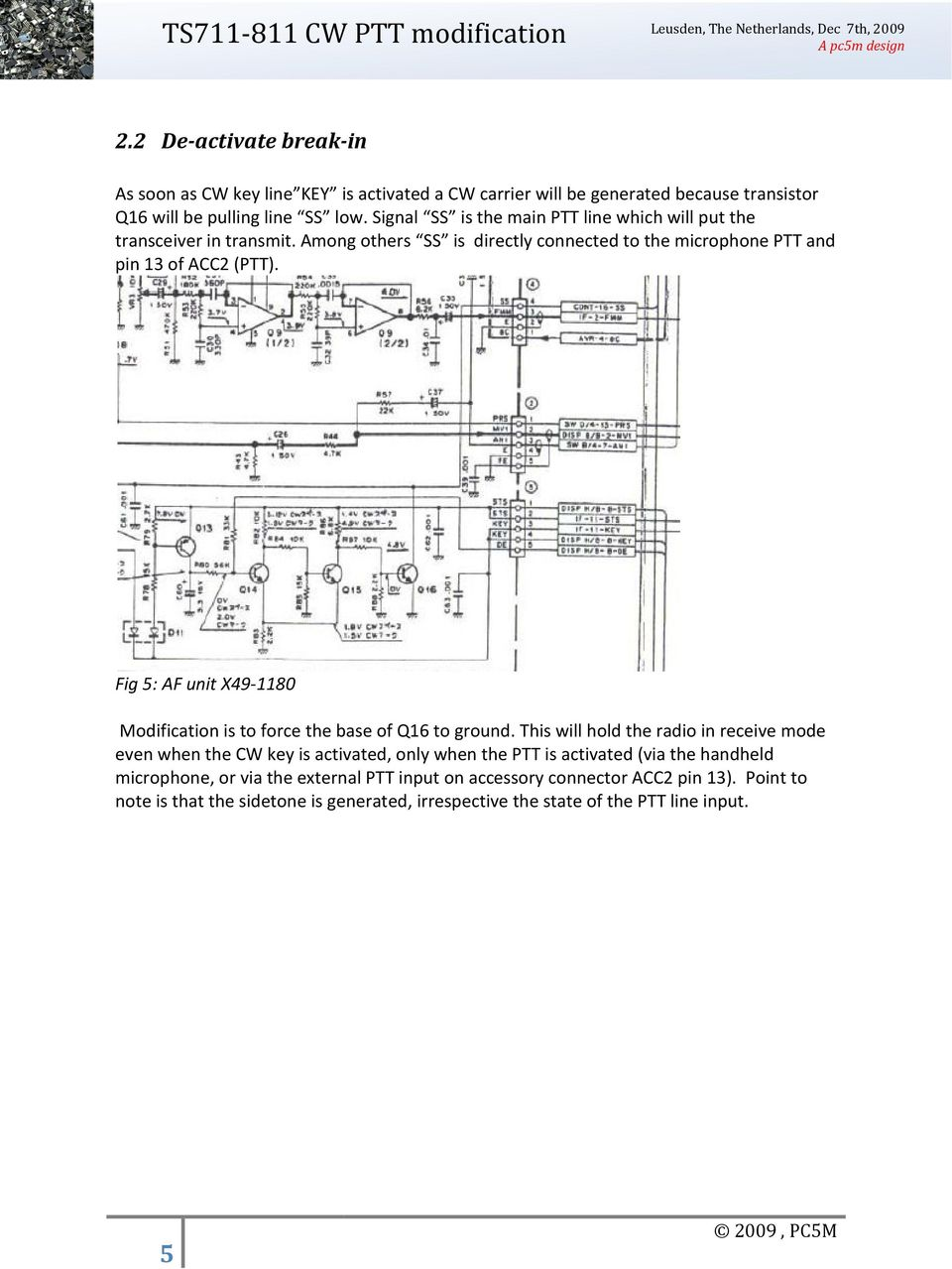 Ts711 And Ts811 Cw Ptt Modification Pdf Basic Vox Circuit Controls Signal Ss Is The Main Line Which Will Put Transceiver In Transmit Among