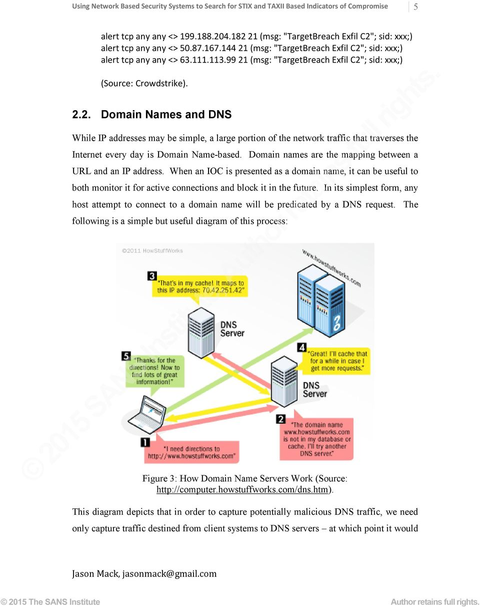 Using Network Based Security Systems to Search for STIX and