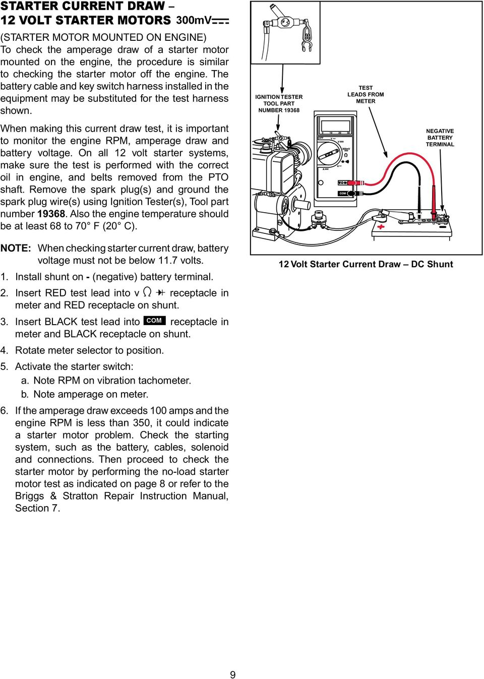 Engine Alternator Repower Guide Pdf Stator Diode Wire Wiring Harness For Briggs And When Making This Current Draw Test It Is Important To Monitor The Rpm