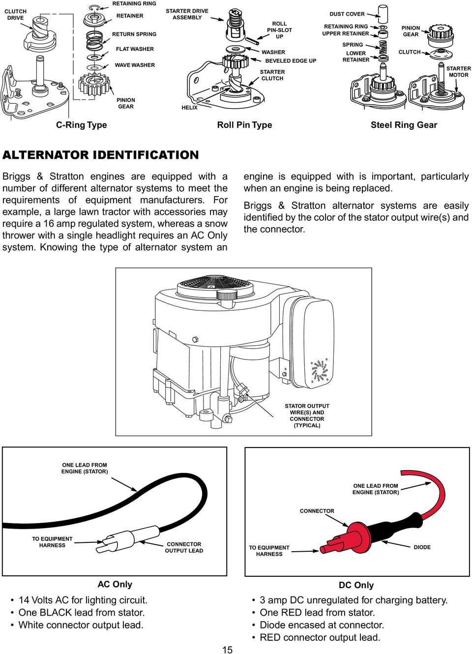 Engine Alternator Repower Guide Pdf 10 0 Briggs Stratton Motor Wiring Diagram Different Systems To Meet The Requirements Of Equipment Manufacturers