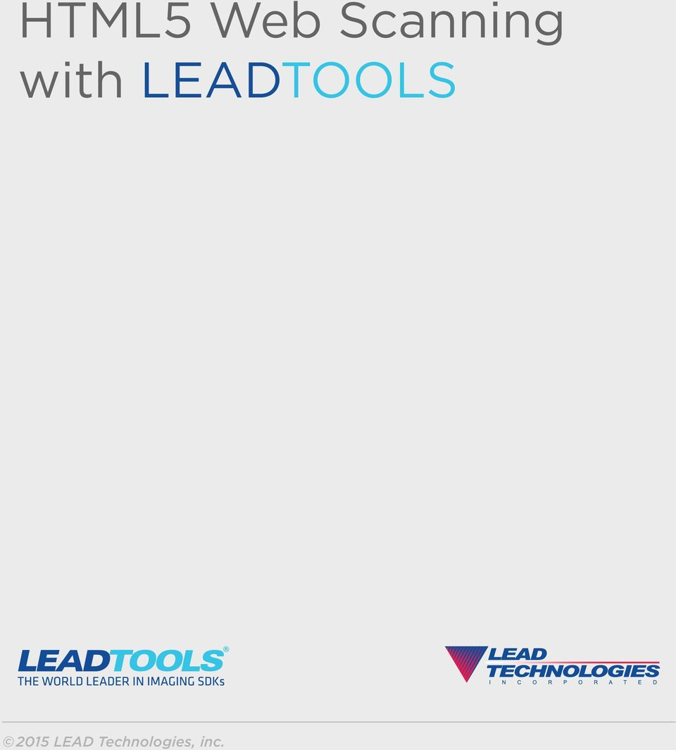 HTML5 Web Scanning with LEADTOOLS - PDF