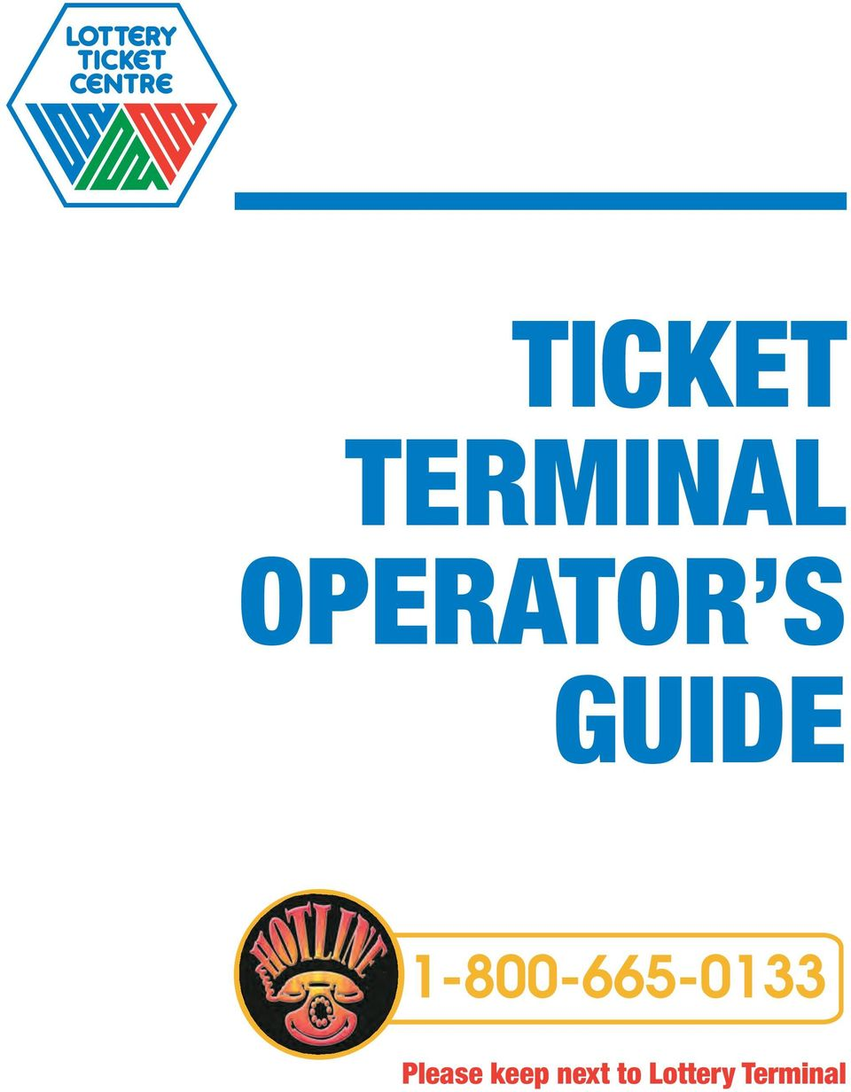 TICKET TERMINAL OPERATOR S GUIDE - PDF