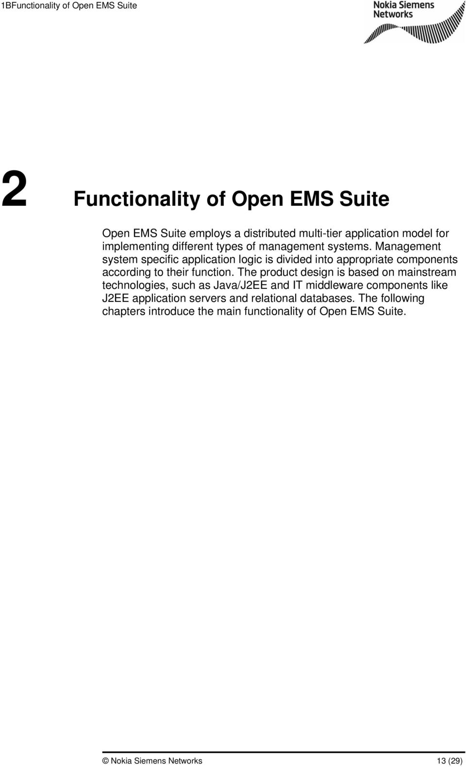 Open EMS Suite Product Description Version - PDF