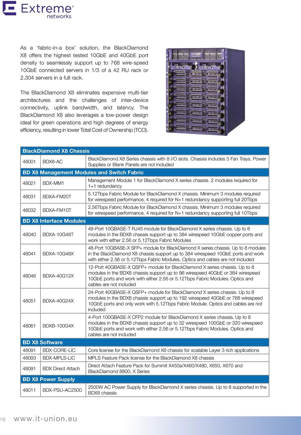 Network Solutions Extreme Networks From Professionals Pdf Magic Mobility X8 Wiring Diagram The Blackdiamond Also Leverages A Low Power Design Ideal For Green Operations And High
