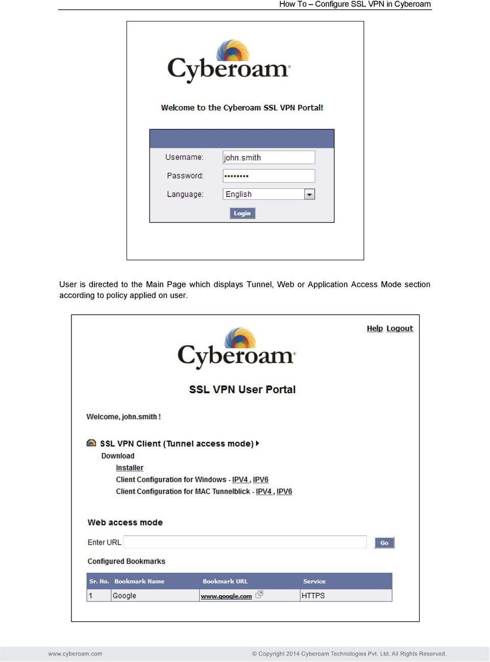 Cyberoam ssl vpn application access mode