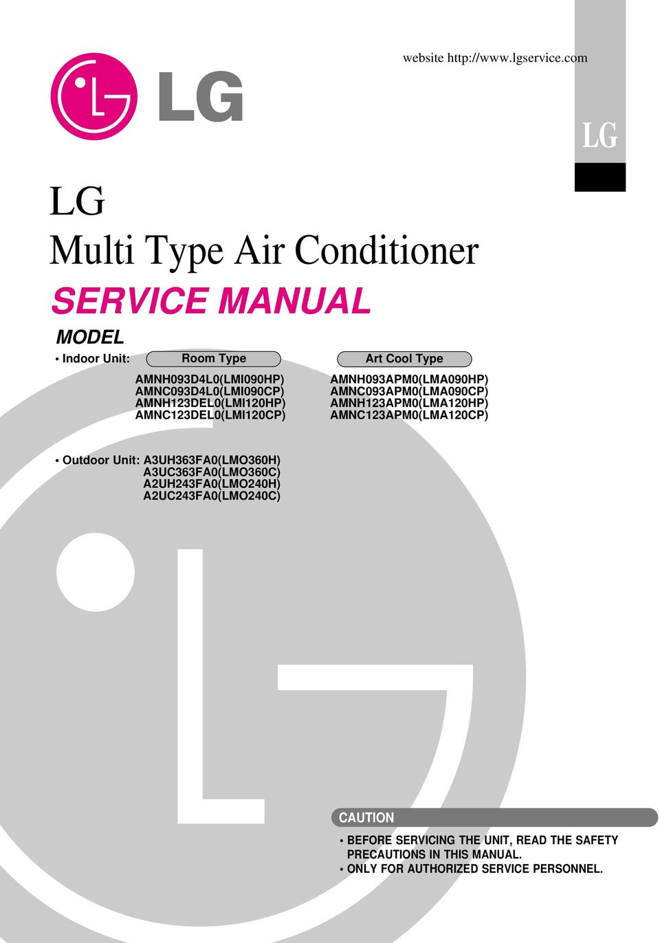 Lg Multi Type Air Conditioner Pdf Free Download