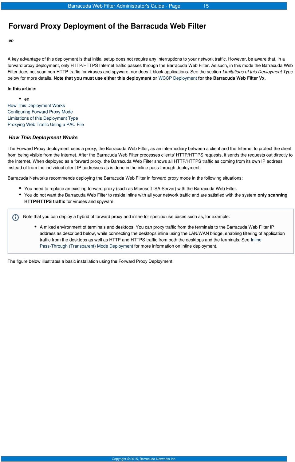 1  Barracuda Web Filter - Overview Release Notes Deployment