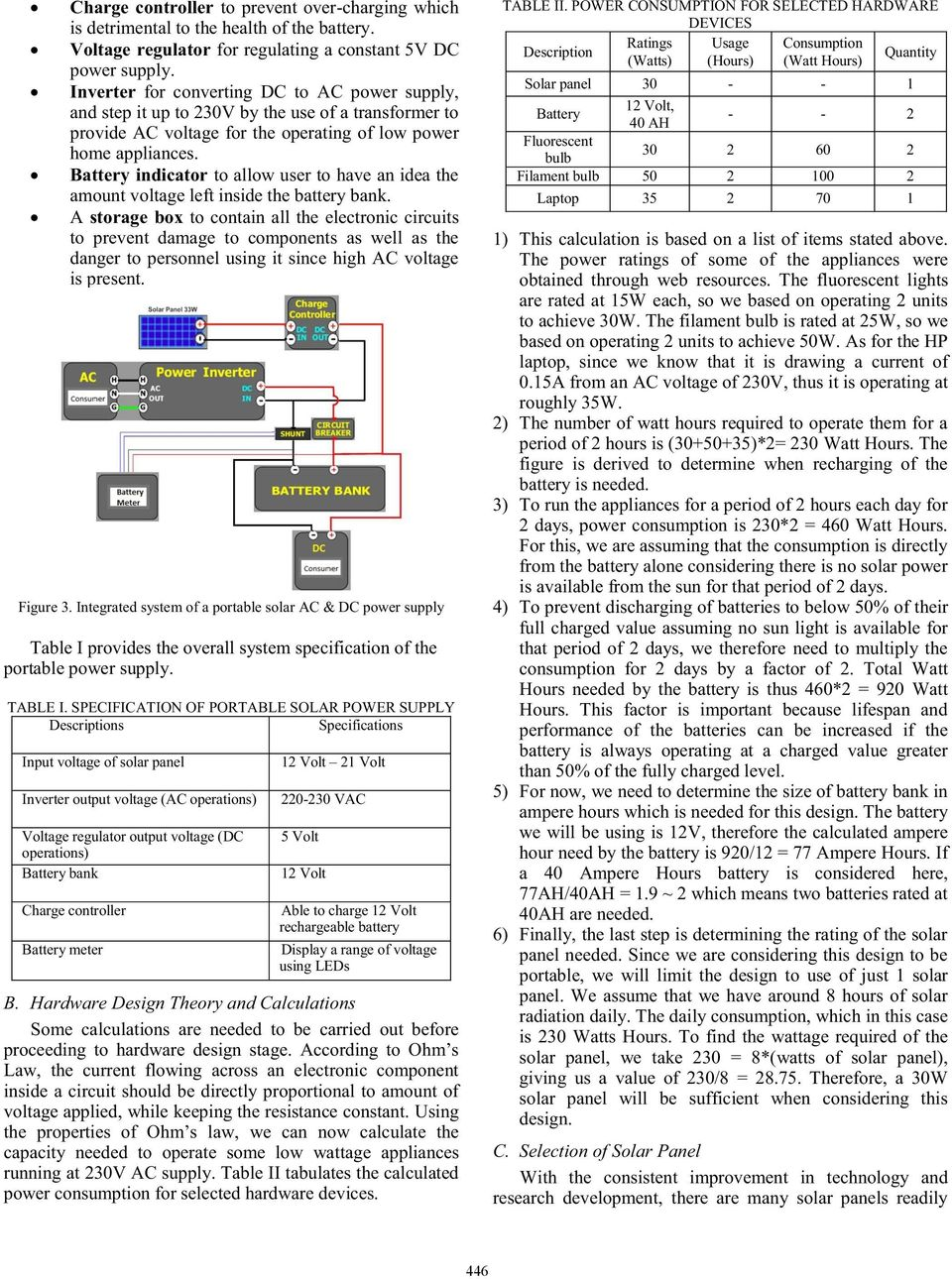 Building Of A Portable Solar Ac Dc Power Supply Pdf Circuitlab Pmosfet Buck Converter Switching Battery Indicator To Allow User Have An Idea The Amount Voltage Left Inside