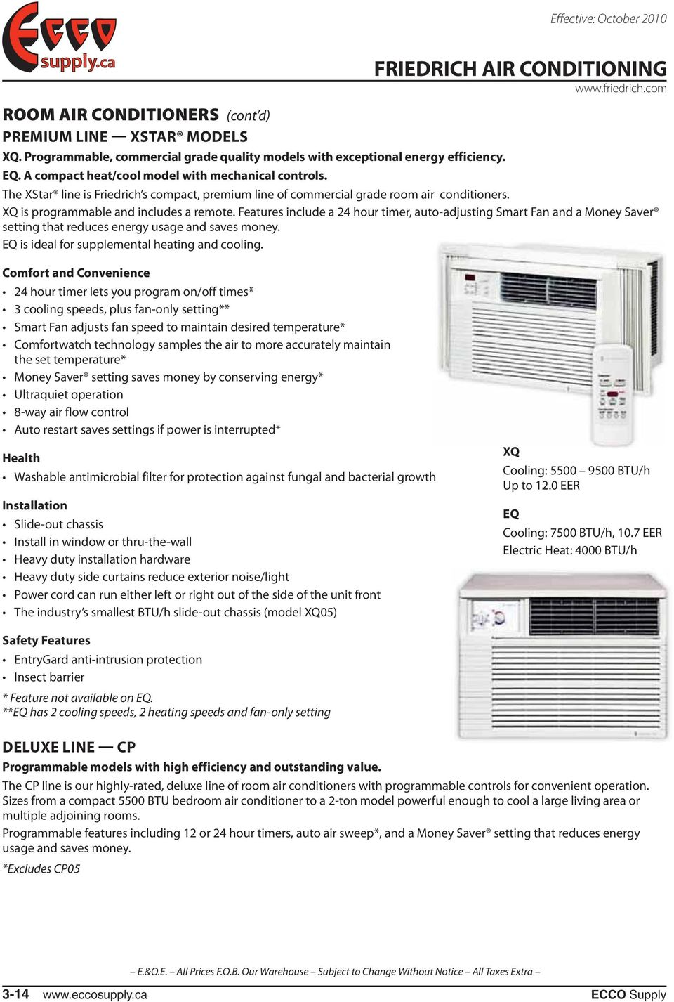 Thermostat Friedrich Air Conditioning Pdf Picturesque Www Wiring Diagram Features Include A Hour Timer Auto Adjusting Smart Fan And Money Saver 960x1426