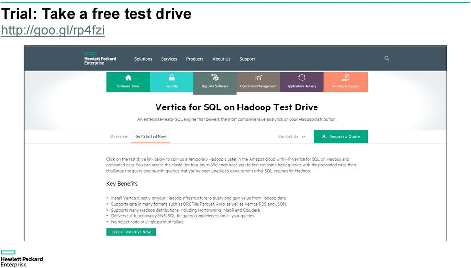 HPE Vertica & Hadoop  Tapping Innovation to Turbocharge Your
