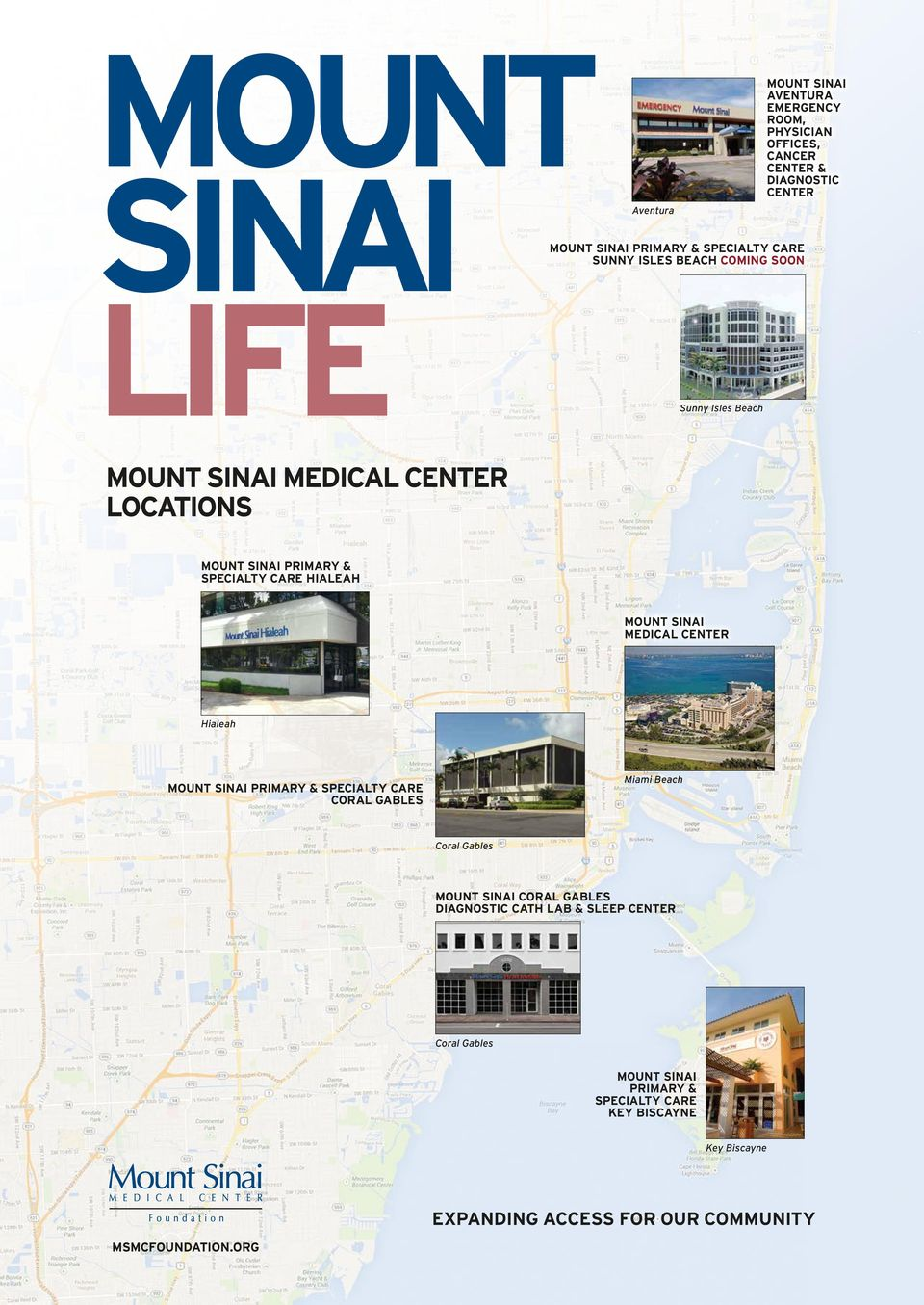 MOUNT SINAI LIFE LOCATIONS EXPANDING ACCESS FOR OUR