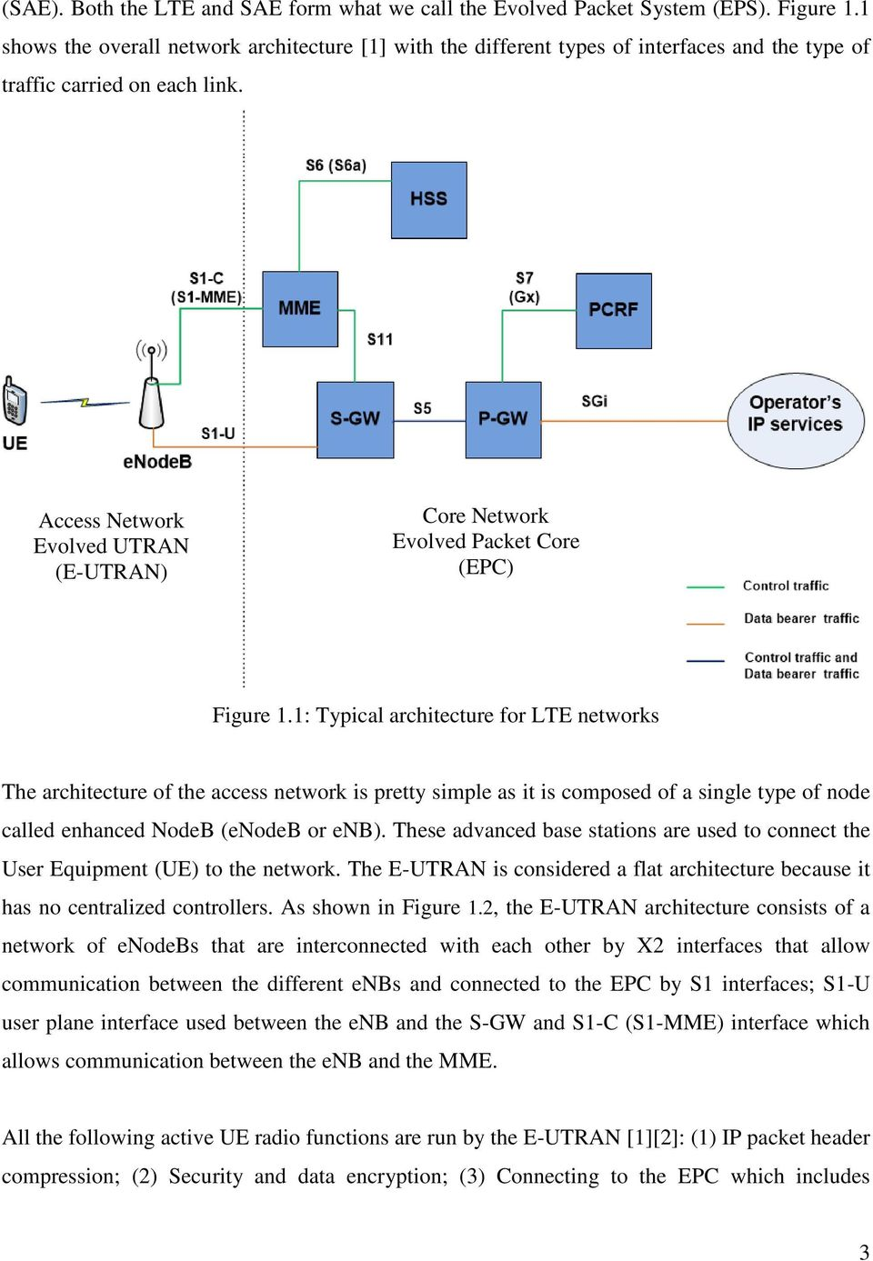 LTE Traffic Generation and Evolved Packet Core (EPC) Network