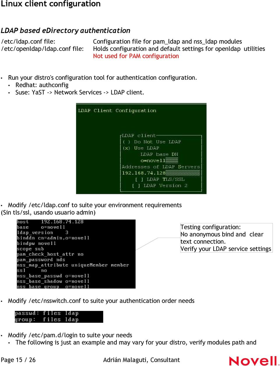 Linux Authentication using LDAP and edirectory - PDF